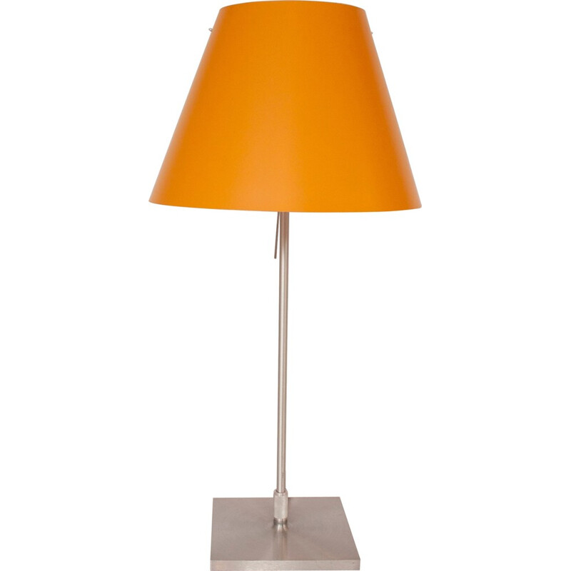 Mid century orange table lamp by Paolo Rizzato - 1980