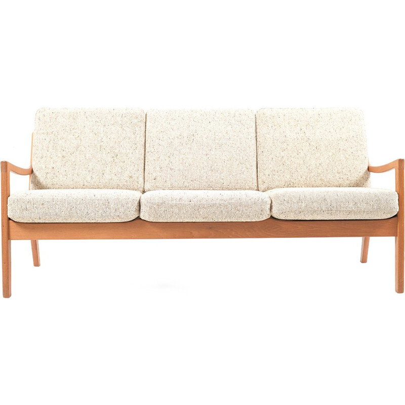 Senator 3-seater vintage sofa in Teak by Ole Wanscher - 1960s