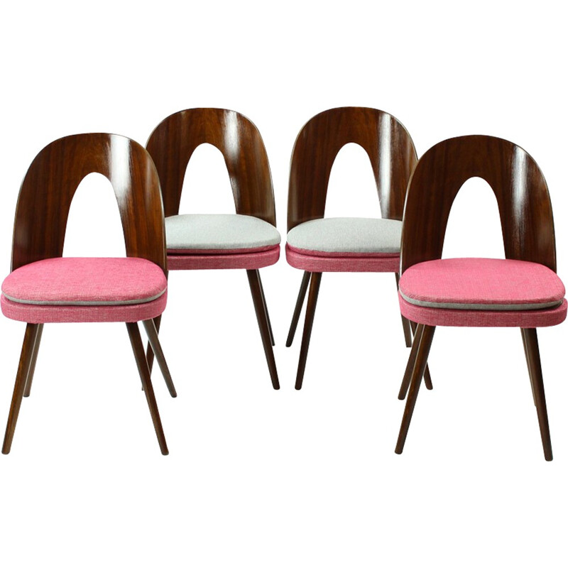 Set of 4 chairs by Antonin Suman for Tatra - 1960s