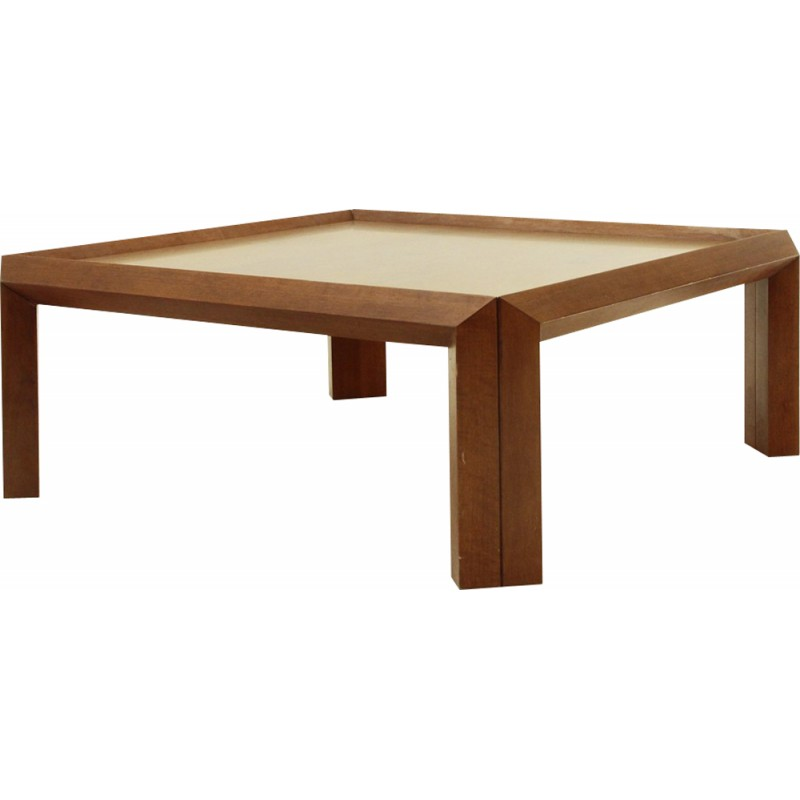 French Market Coffee Table: Italian Square Wooden Coffee Table