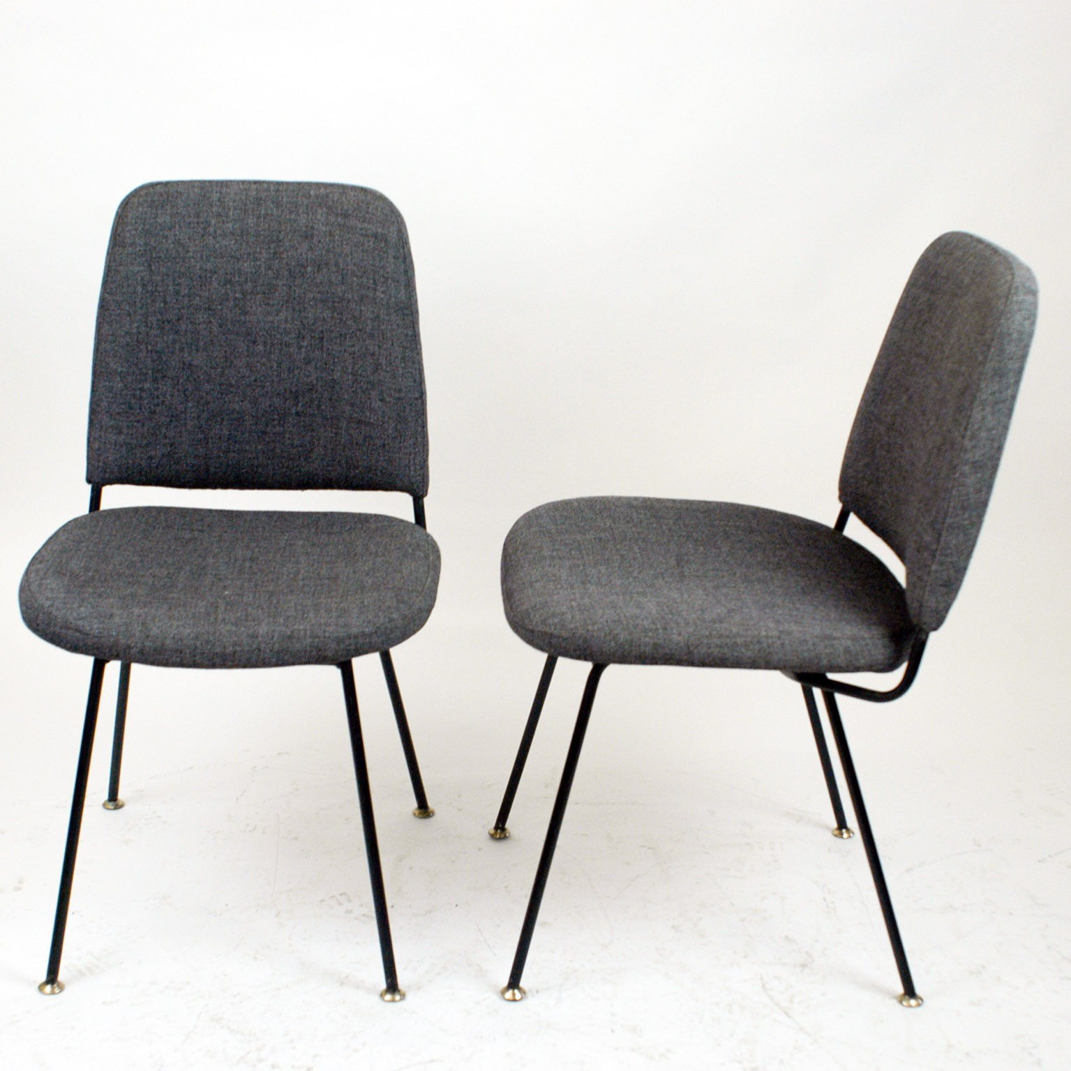 Pair Of Italian Midcentury Dining Chairs By Arflex 1950s