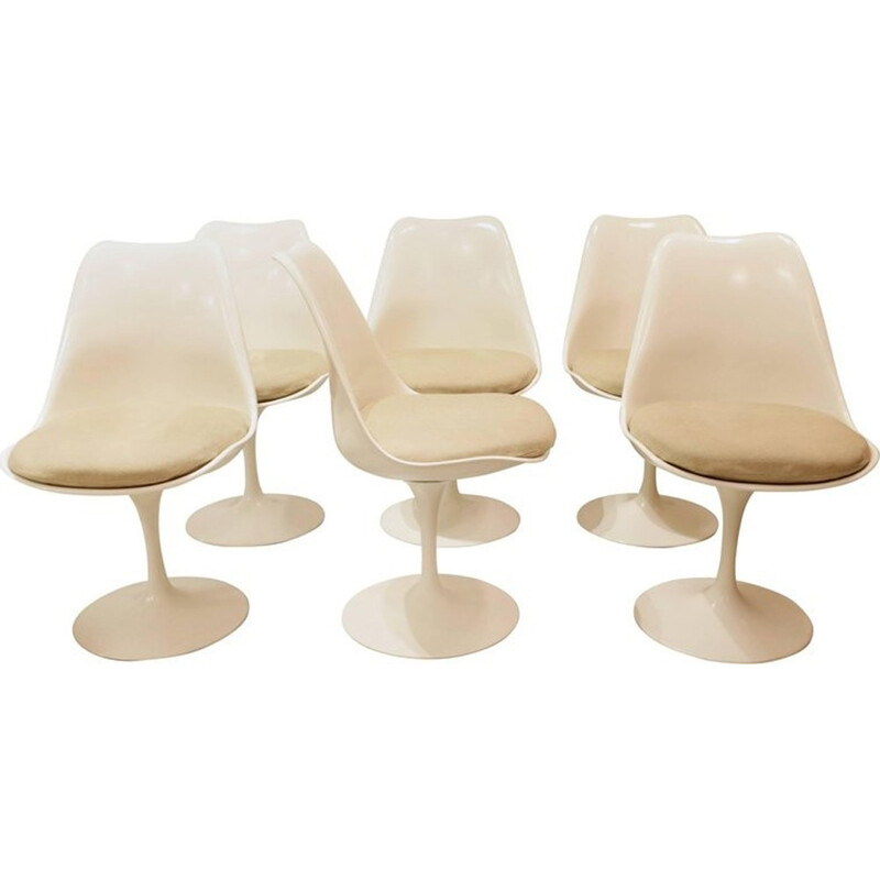 Set of 6 Tulip chairs by Eero Saarinen for Knoll - 1960s