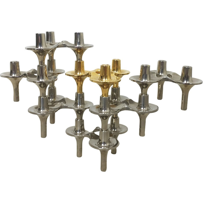 """Orion"" Candleholder by Caesar Stoffi for BMF Nagel - 1970s"