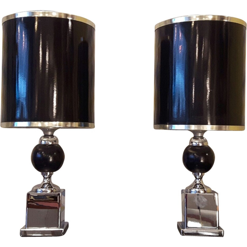 Pair of chic lamps - 1970s