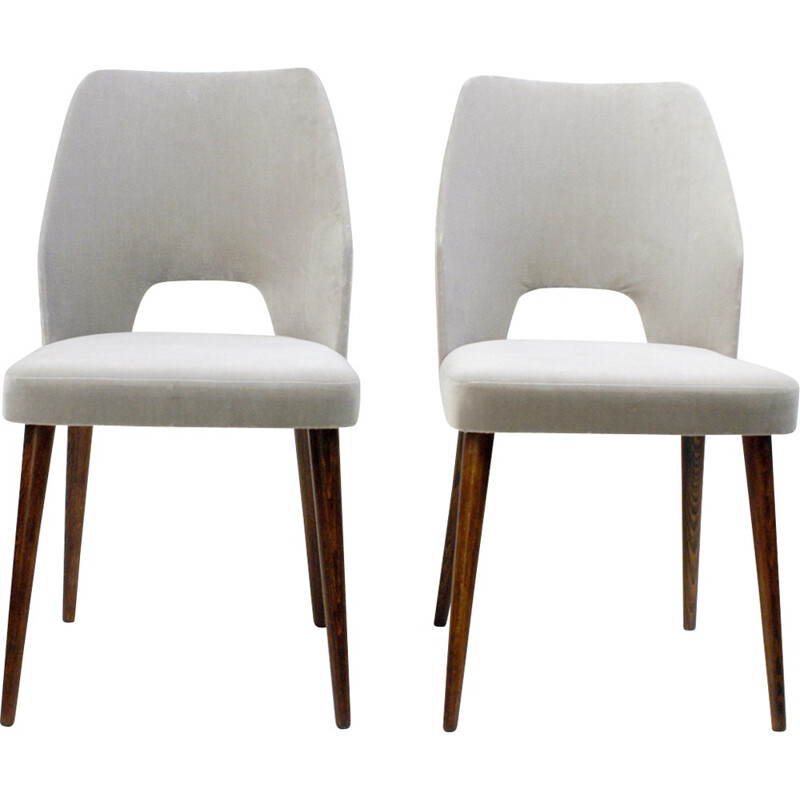 Pair of Midcentury Dining Chairs in the Style of Oswald Haerdtl - 1950s