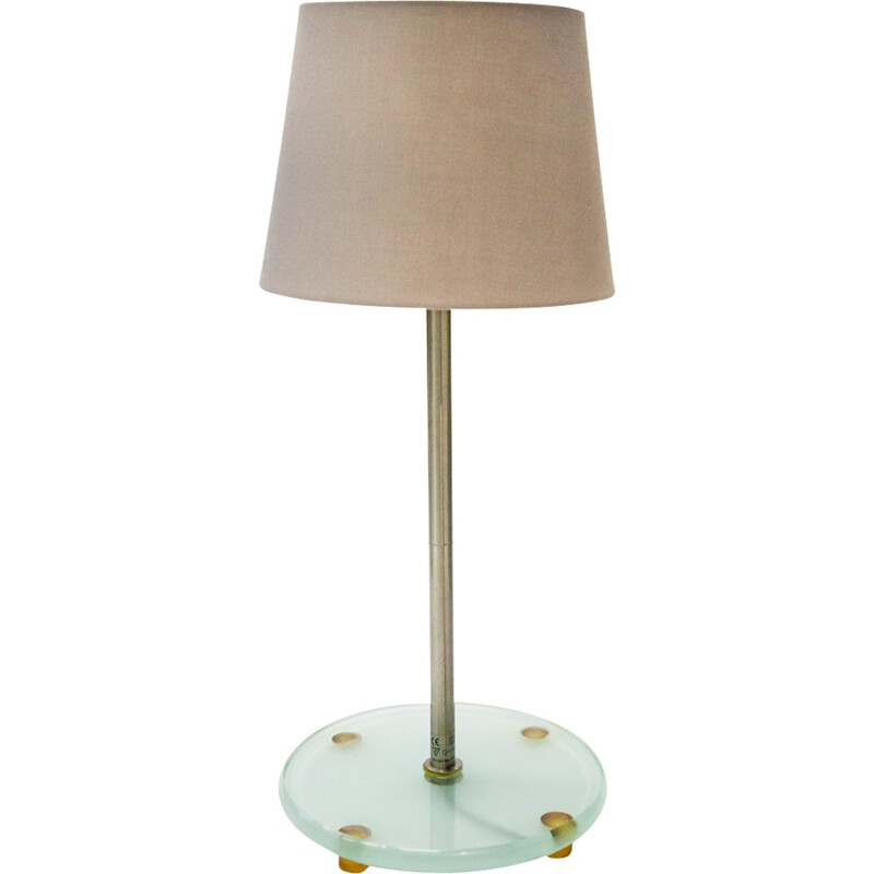 Glass And Steel Table Lamp From HALO Design   1990s