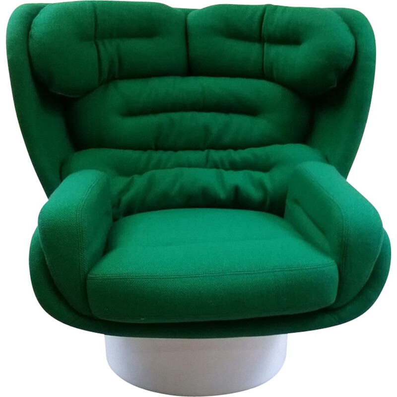 "Green fabric armchair ""Elda"" by Joe Colombo - 1970s"