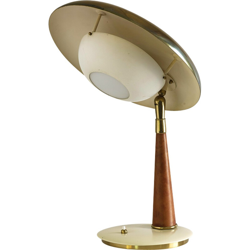 Angelo Lelii brass table lamp - 1960s