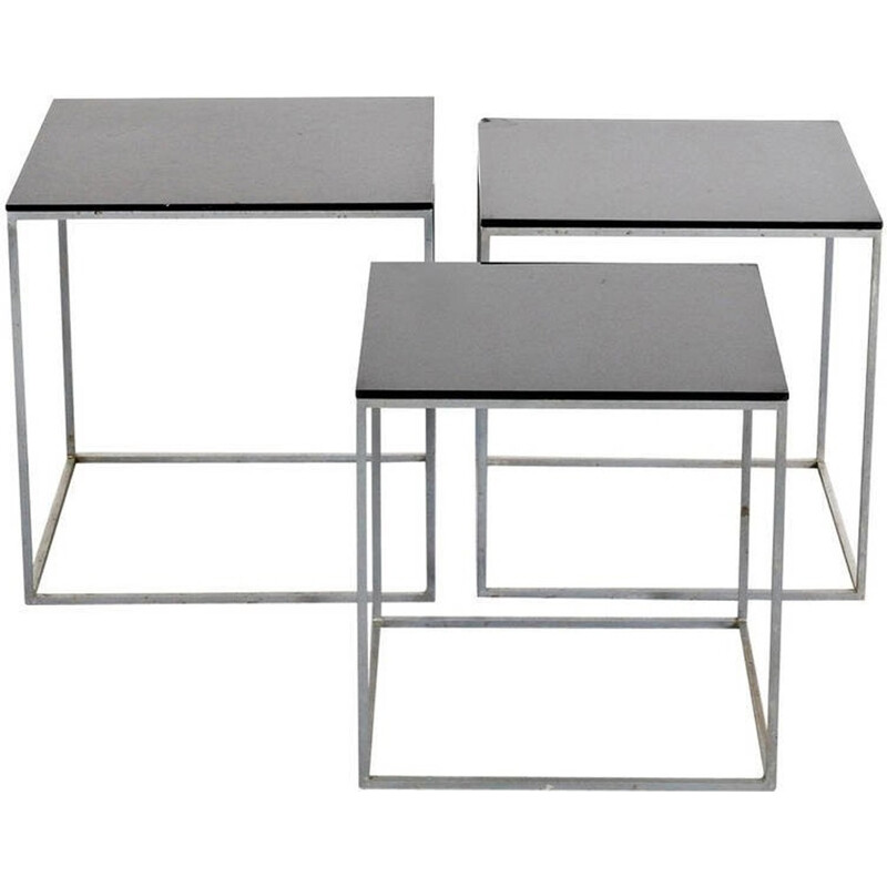 PK71 Nesting Tables by Poul Kjaerholm for E. Kold Christensen - 1960s
