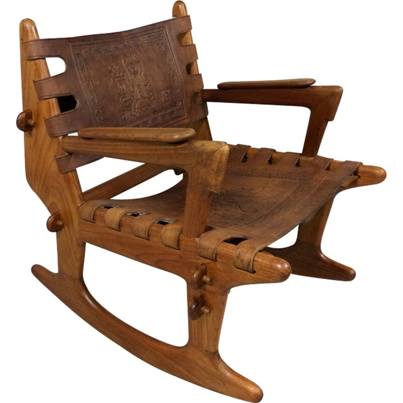 Vintage Rocking Chair by Angel Pazmino - 1960s