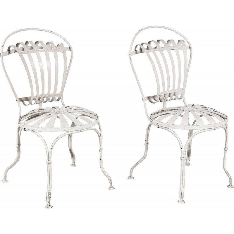 Pair of Vintage Garden Chairs by Francois CARRE - 1930s
