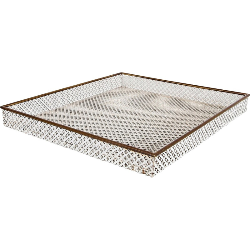 Metal and Brass Tray by Mathieu MATEGOT - 1950s