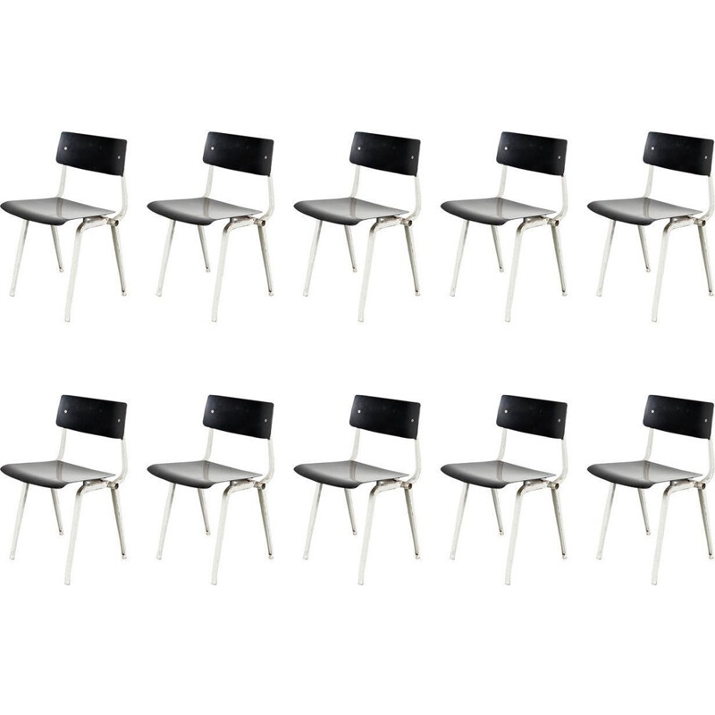 Set of 10 Theater Chairs by Friso KRAMER - 1950s