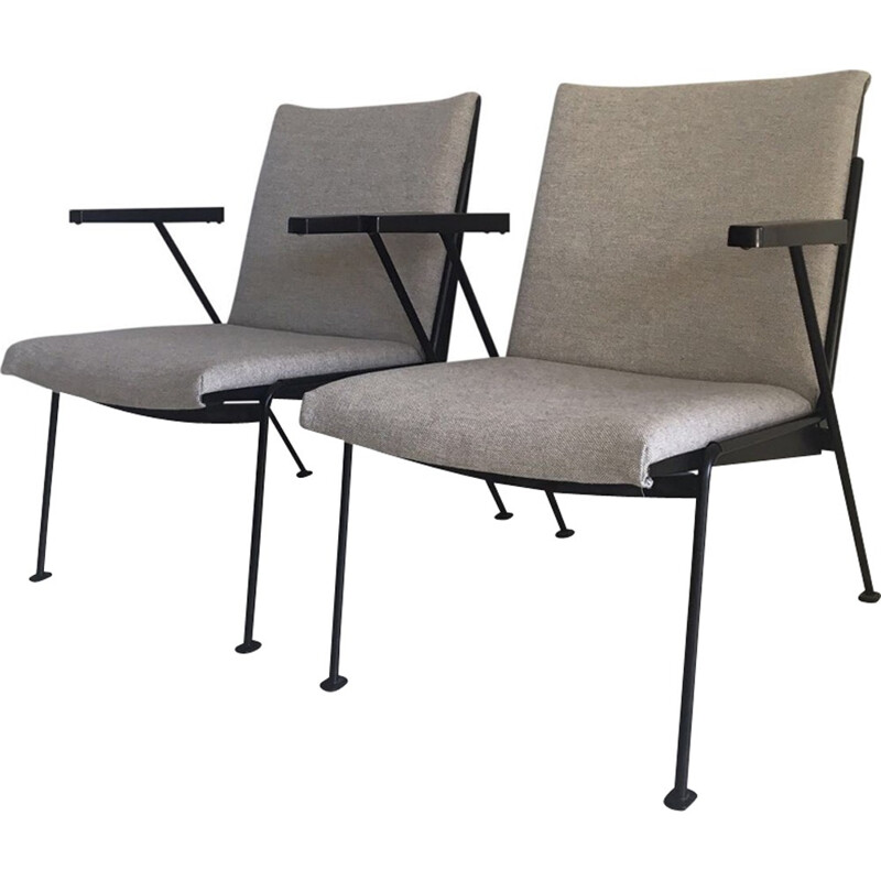 """Black Oase"" Lounge Chairs by Wim Rietveld for Ahrend de Cirkel - 1950s"