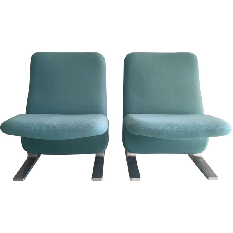 "Pair of ""Concorde"" Lounge Chairs by Pierre Paulin  for Artifort - 1960s"