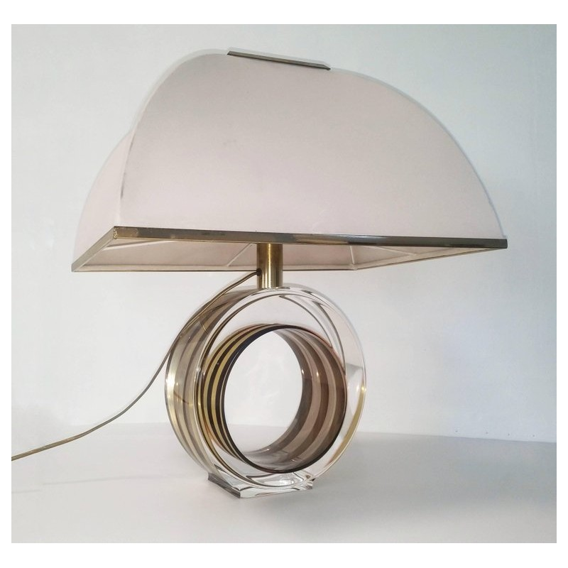 Vintage Brass And Lucite Table Lamp 1970s Design Market