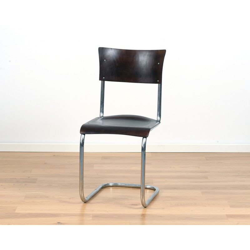 Mart Stam Design.Bauhaus S43 Cantilever Chair By Mart Stam For Thonet 1940s