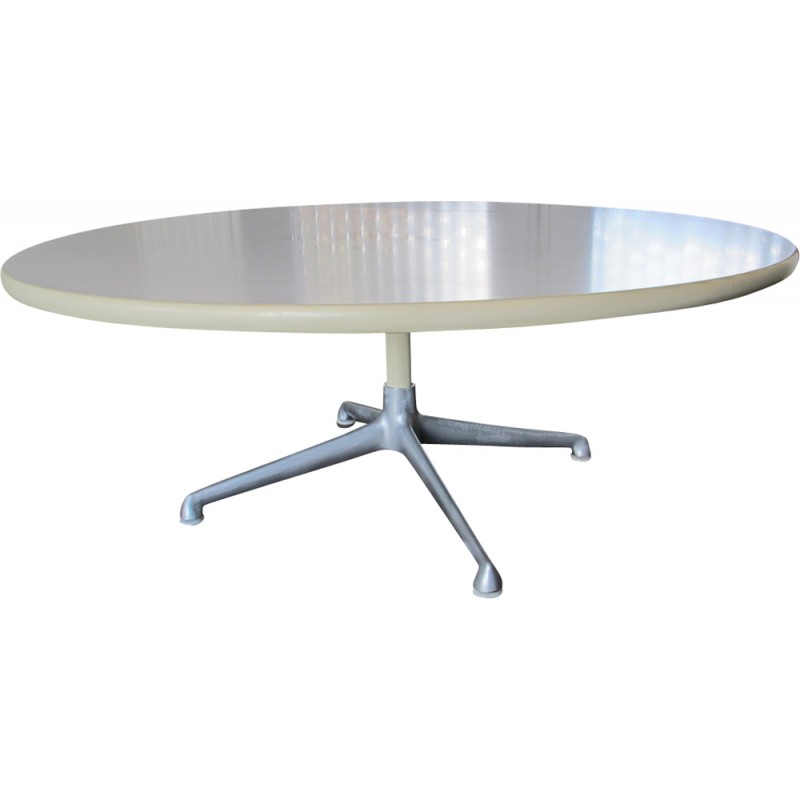 Vintage Circular Coffee Table By Charles And Ray Eames For