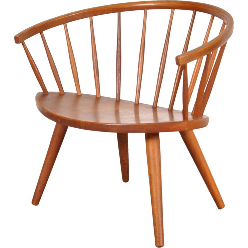 Oak Easy Chair Model Arka by Yngve EKSTROM - 1950s