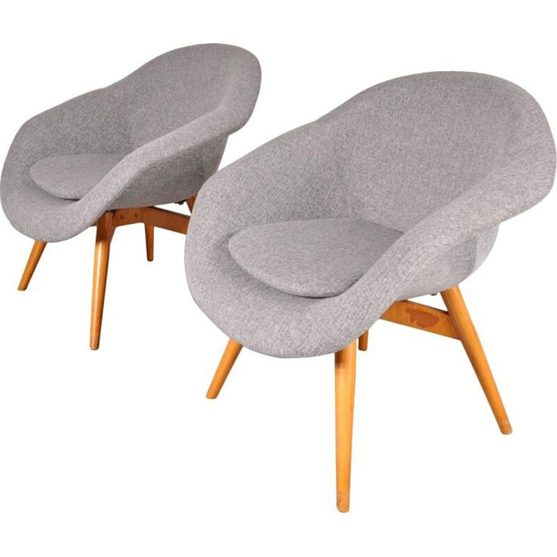 Set of Two Easy Chairs by Frantisek JIRAK - 1958