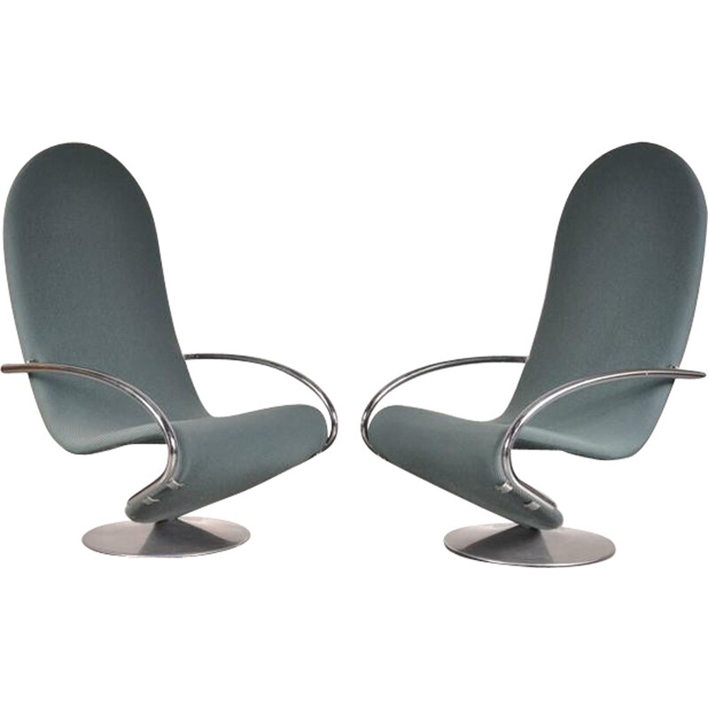 Set of Two 1-2-3 Easy Chairs by Verner PANTON - 1970s