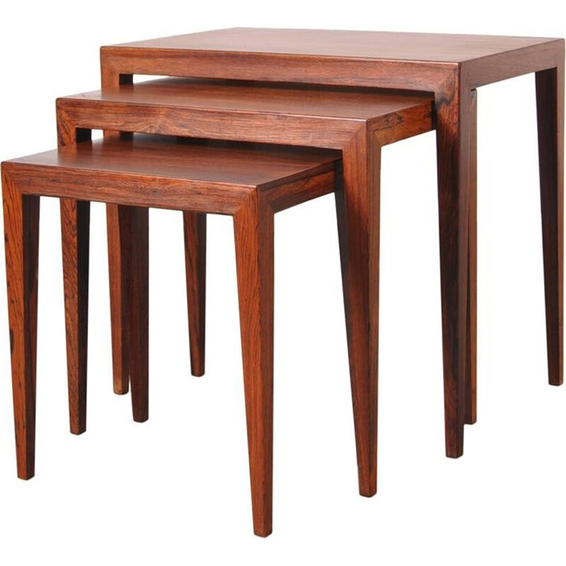 Nesting Tables by Severin Hansen for Haslev Mobelsnedkeri - 1960s