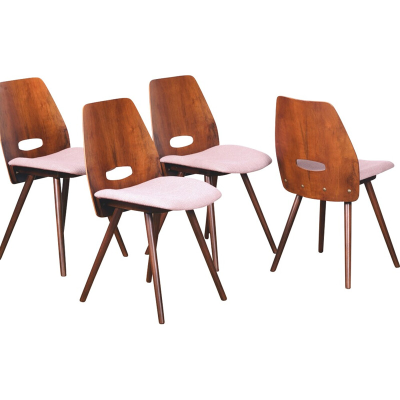 Set of 4 Dining Chairs by Frantisek Jirak for Tatra - 1960s