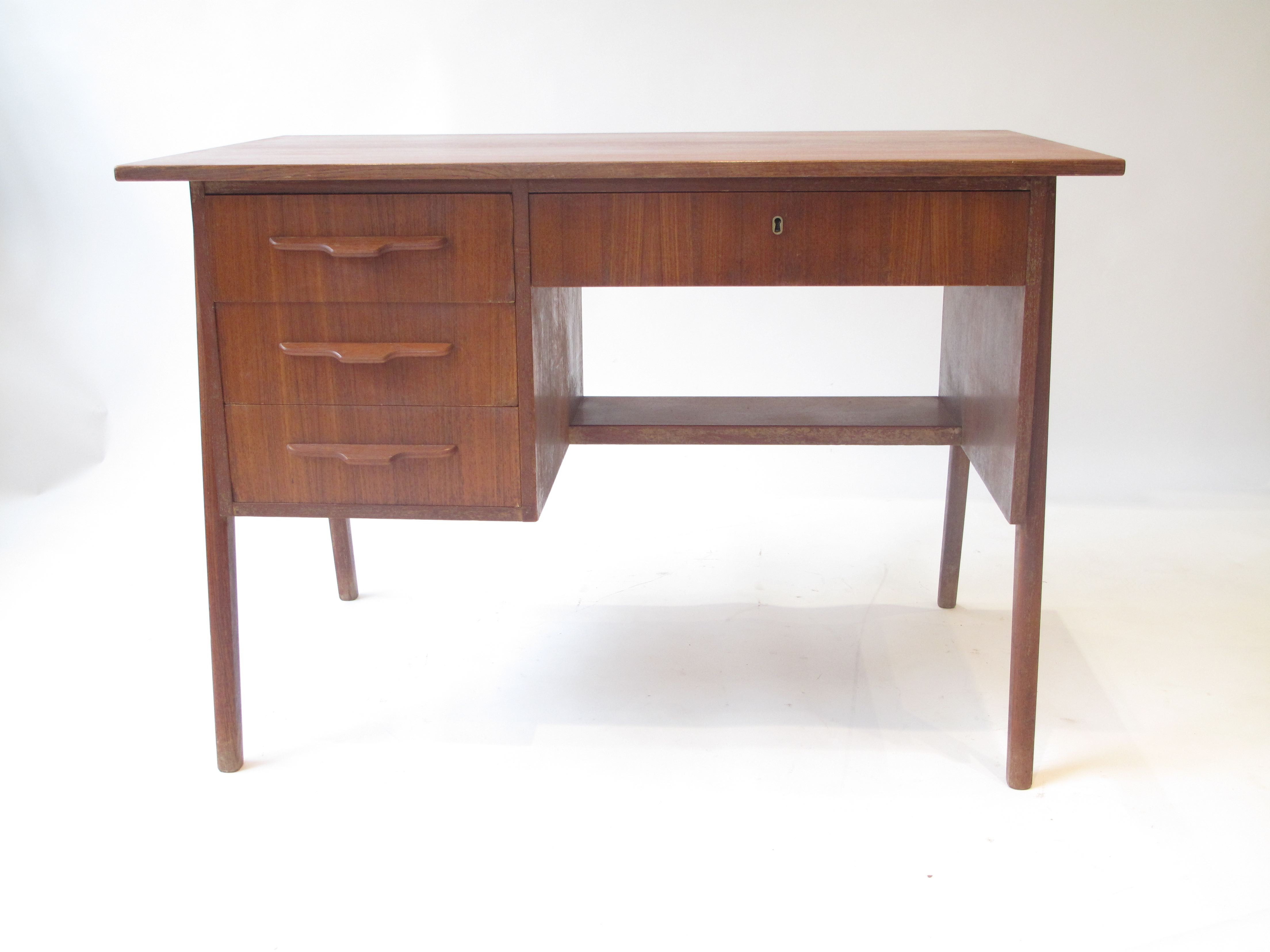desk room danish teak modern peerless executive set mid dining most style genius century furniture table
