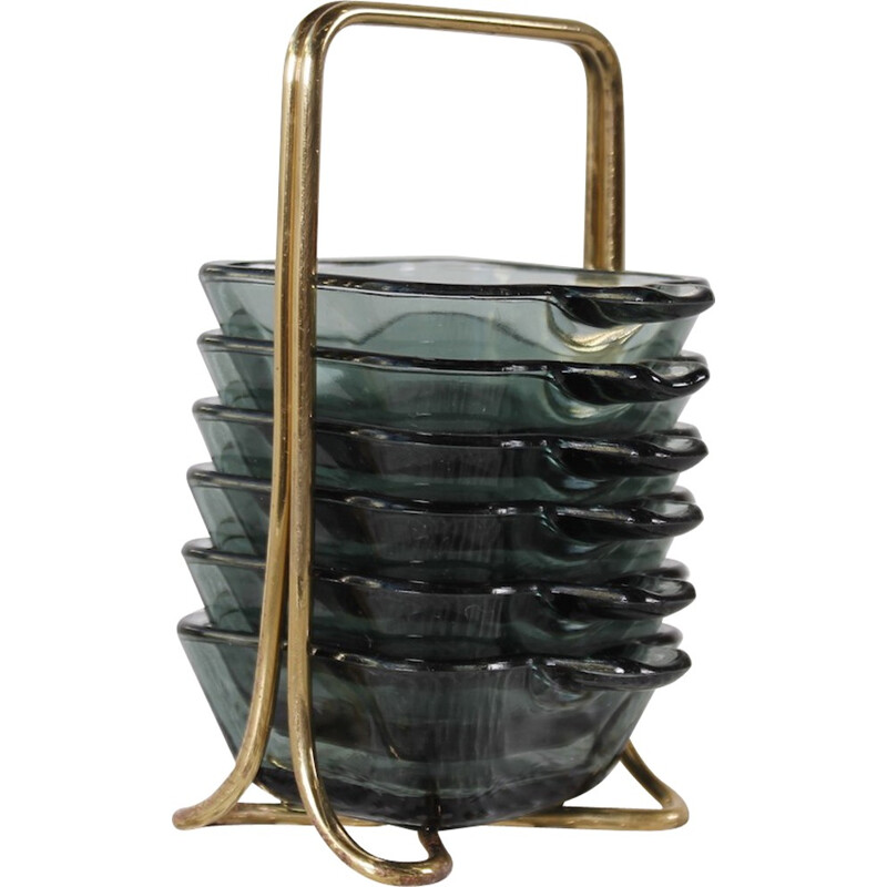 Stackable Ashtrays by Wilhelm Wagenfeld for WMF - 1950s