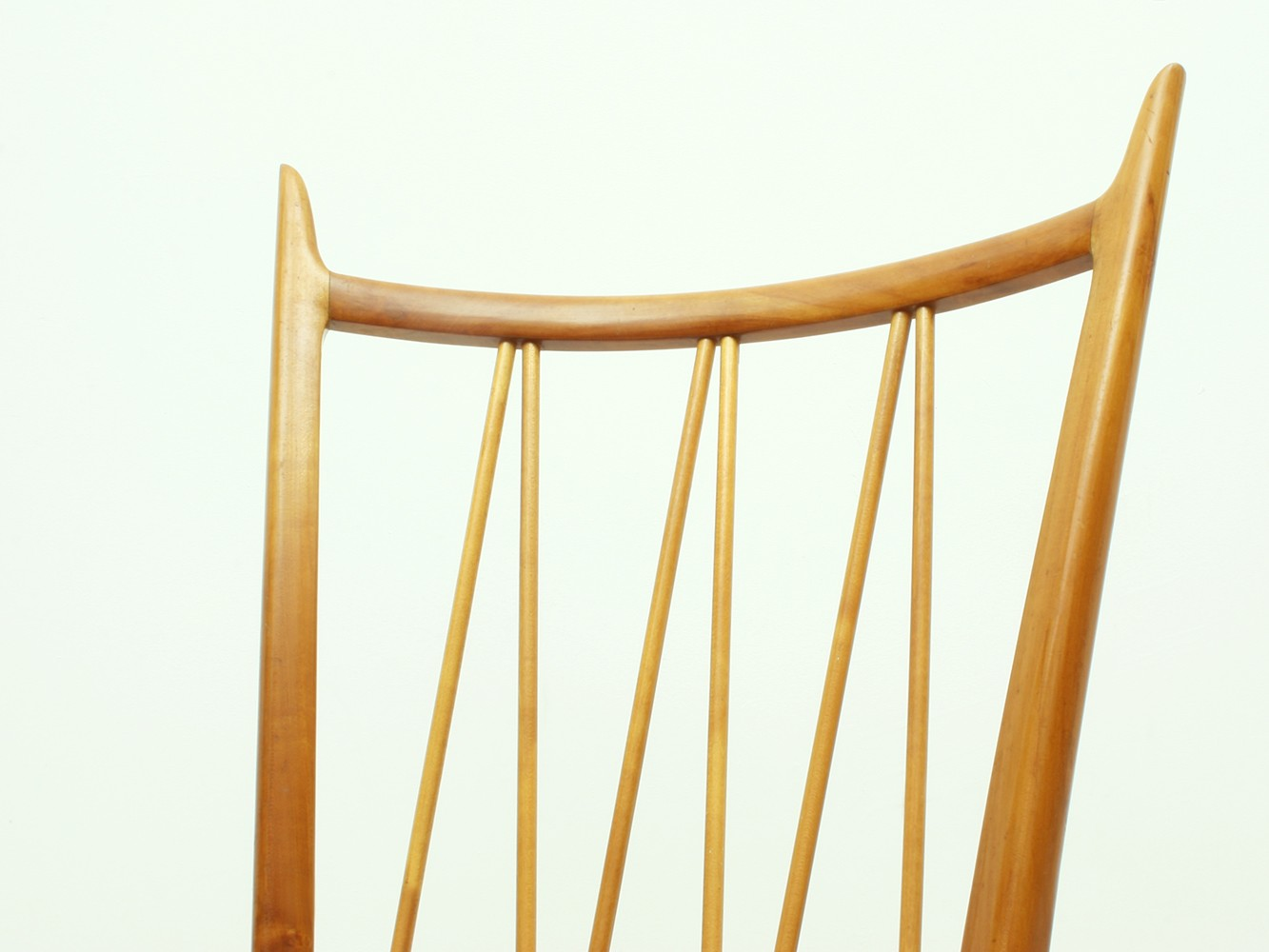 Set Of 4 Cherry Wood Dining Chairs - 1950s - Design Market