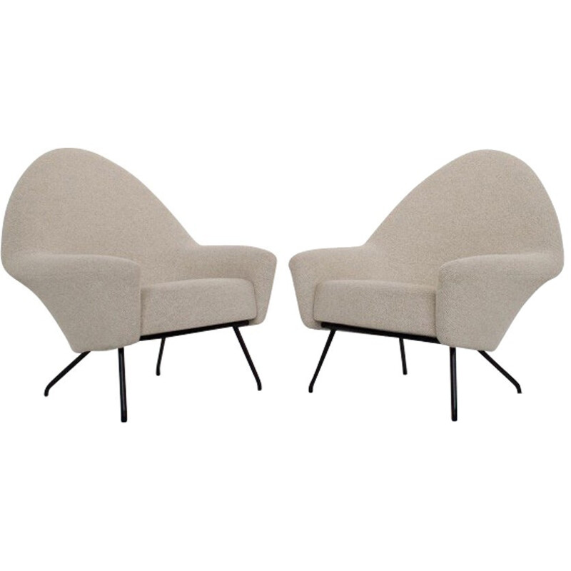 Pair of armchairs model 770 by Joseph-André Motte - 1958