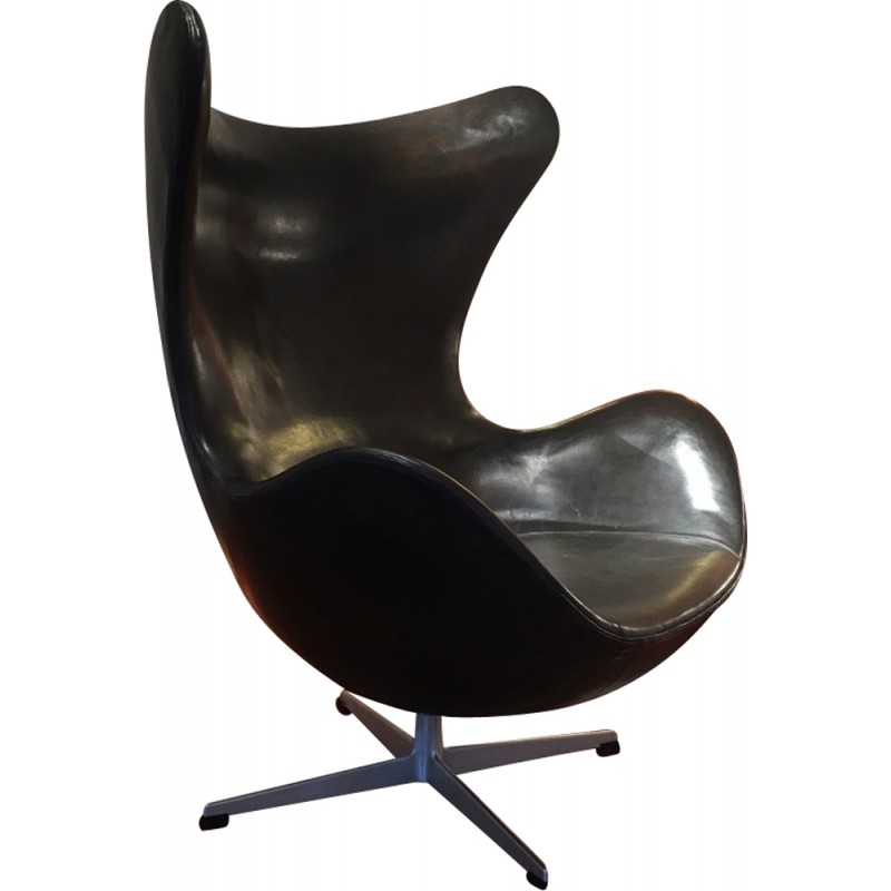 Charmant Vintage Egg Chair By Jacobsen Arne For Fritz Hansen   1960s