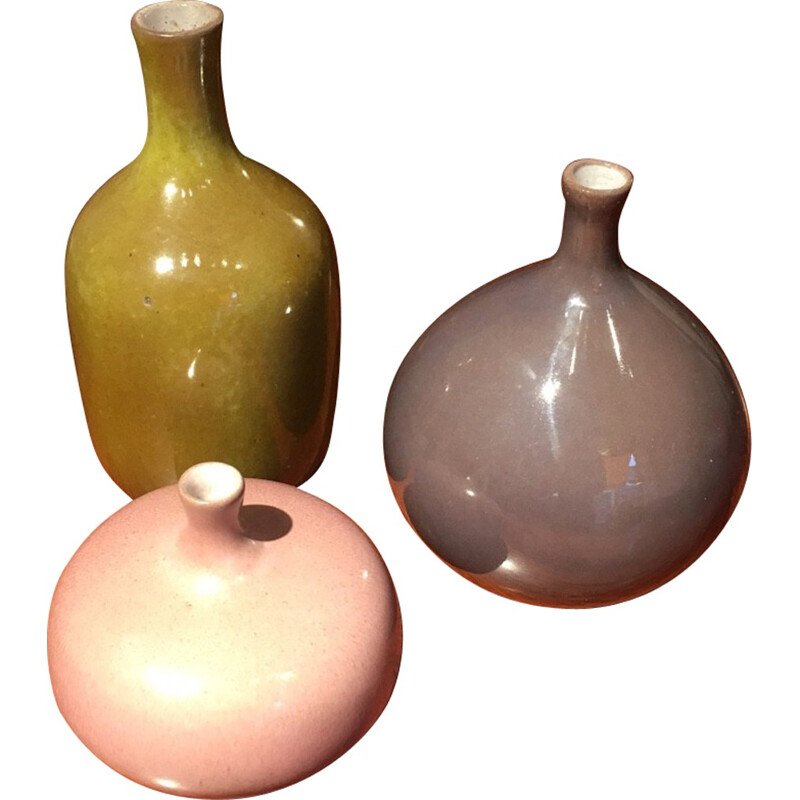 Set of 3 vases by Jacques and Dani Ruelland - 1950s