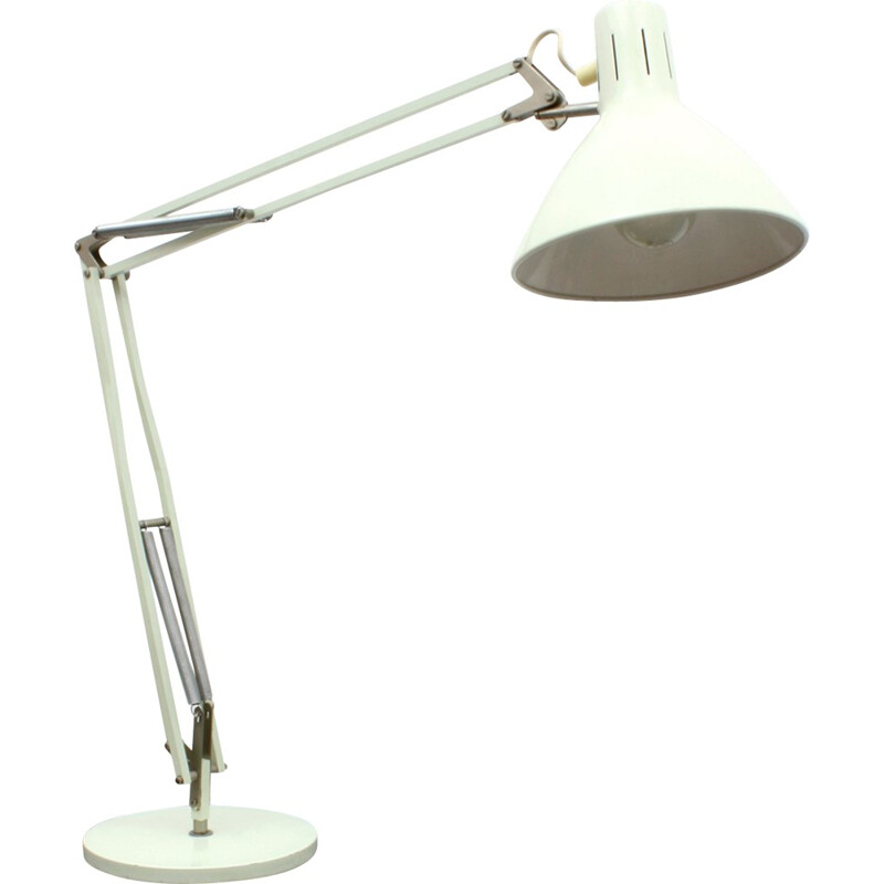 Dutch Grey Metal Desk Lamp Model Terry 2 by H. TH. J. A. BUSQUET for Hala Zeist - 1950s