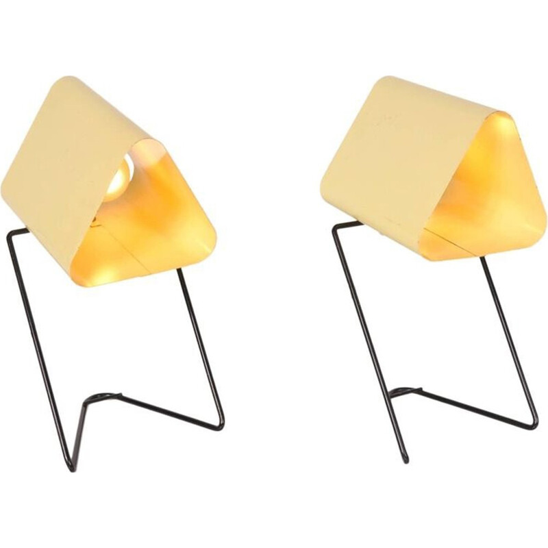 Pair of  TableBed Lamps by Louis Kalff for Philips - 1950s