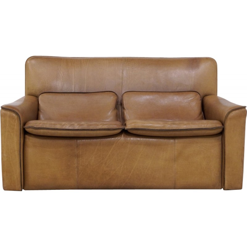 2 Seater Leather Sofa By Leolux   1970s
