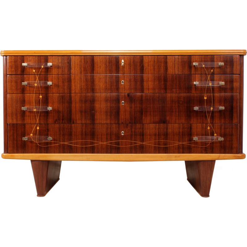 Italian Rosewood Commode by Vittorio Dassi - 1950s