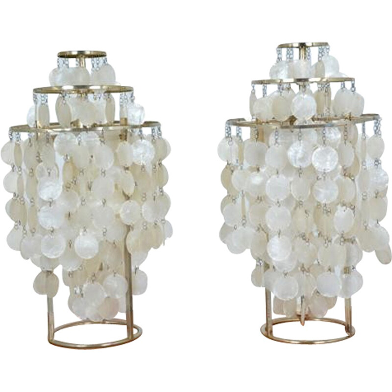 Pair of Fun model table lamps by Verner PANTON - 1960s
