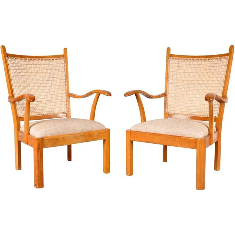 Set of 2 armchairs by Bas Van Pelt for My Home - 1940s