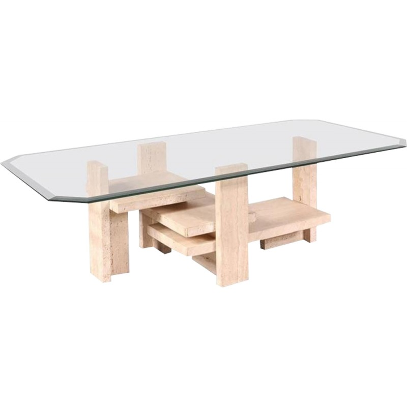 Vintage Coffee Table by Willy Ballez - 1980s