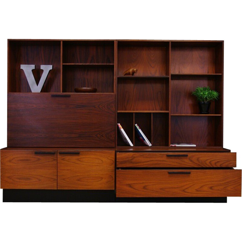 Vintage bookcase in rosewood by Ib Kofod Larsen for Faarup Mobelfabric - 1960s