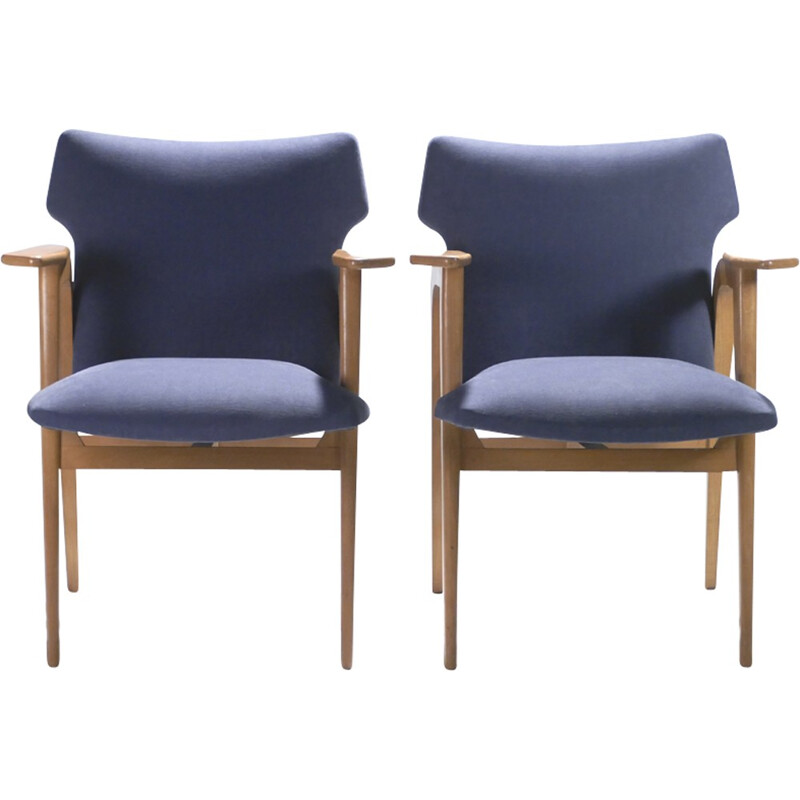 Pair of armchairs Roger Landault - 1950s
