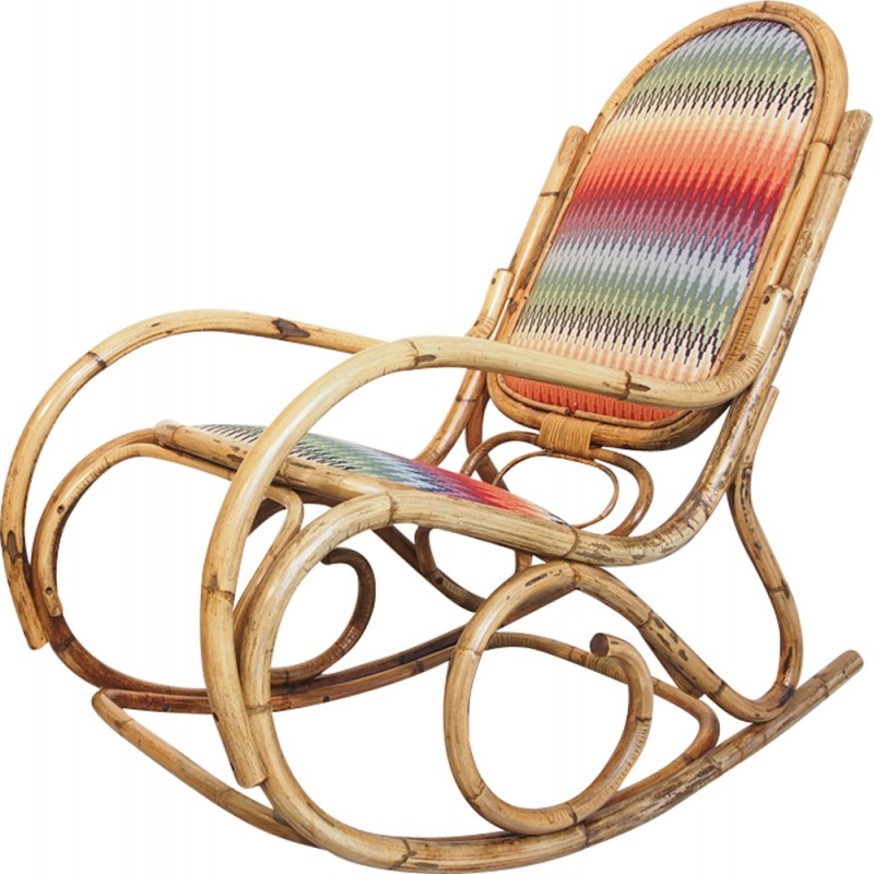 Awesome Vintage Mid Century Rattan Rocking Chair 1960S Design Market Gmtry Best Dining Table And Chair Ideas Images Gmtryco