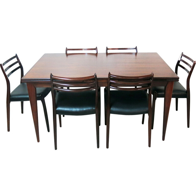 Rosewood Dining Set By Niels O Moller For J L Mller Mbelfabrik