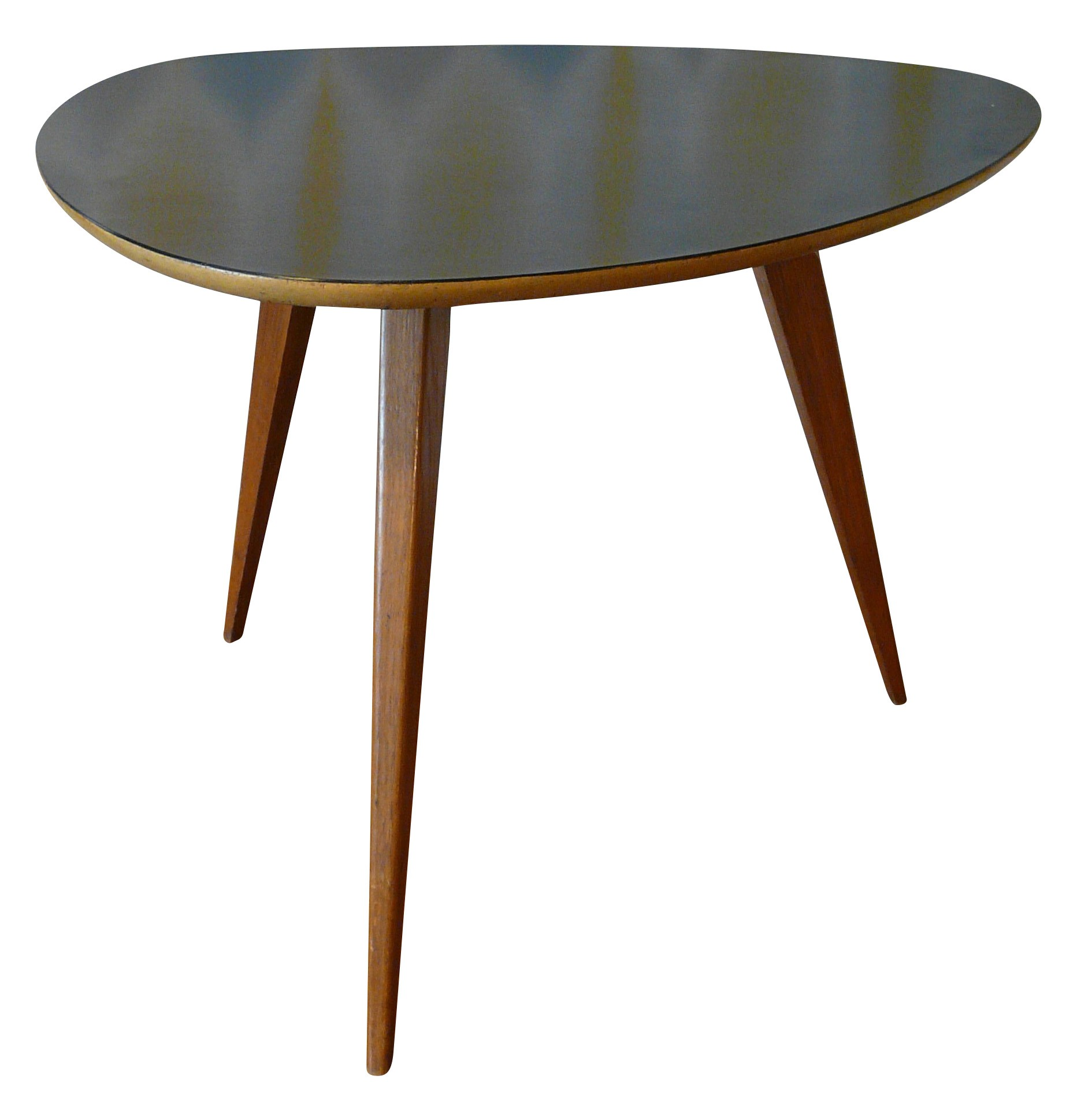Coffee Table With 3 Legs In Wood And