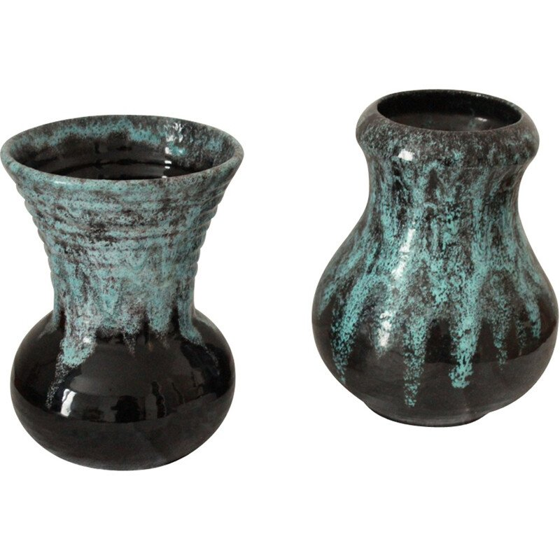 Pair of two vintage vases by Accolay - 1960s