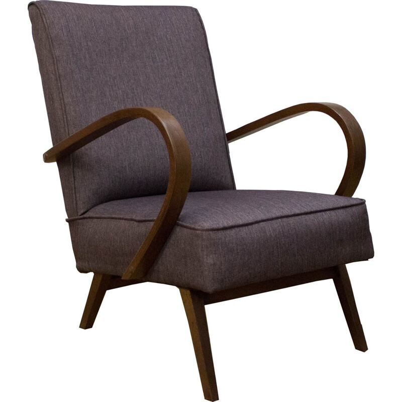 Lounge armchair by Jindrich Halabala for UP Zavody - 1950s