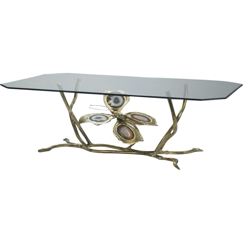 Bronze coffee table by Henri Fernandez for La Maison Honoré - 1970s