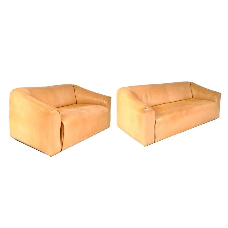 "Pair of vintage ""DS-47"" sofas by De SEDE - 1960s"