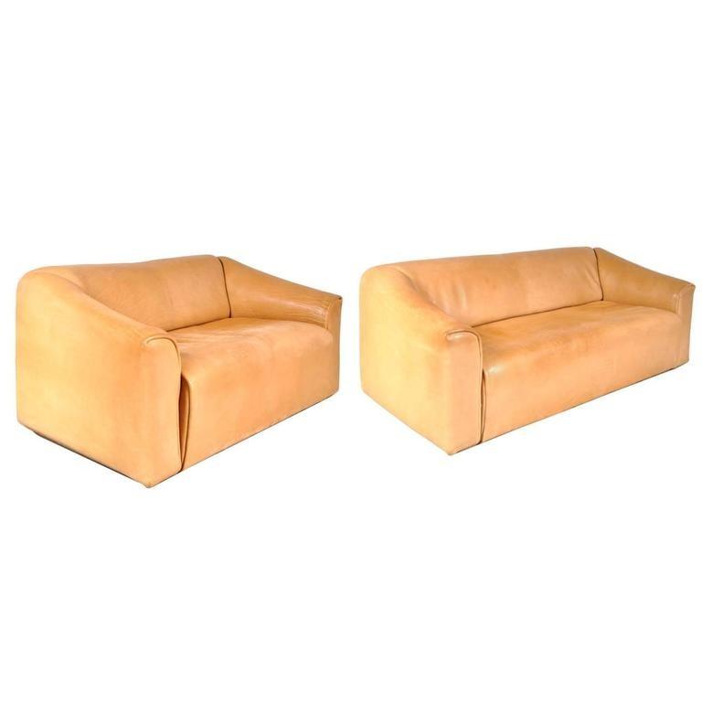 pair of vintage ds 47 sofas by de sede 1960s design. Black Bedroom Furniture Sets. Home Design Ideas